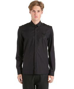 Neil Barrett | Рубашка Из Поплин С Деталями Из Шеврона