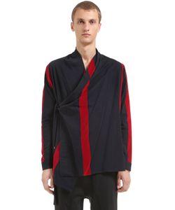 Damir Doma | Хлопковая Рубашка-Кимоно С Бархатными Полосками