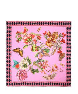Gucci | Шёлковый Платок С Принтом Gg Chain Bouquet