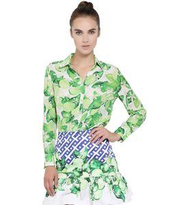 Isolda | Рубашка Из Шелкового Крепа С Принтом