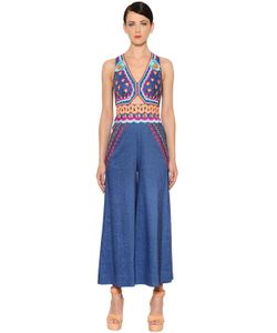 Temperley London | Embroide Denim Jumpsuit