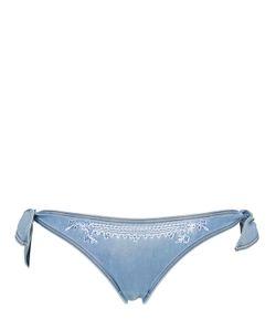 Ermanno scervino lingerie   Embroide Denim Bottoms