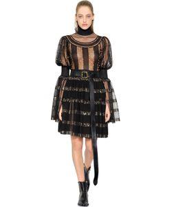 Alexander McQueen | Платье Из Прозрачного Шёлка Трикотажа И Люрекса
