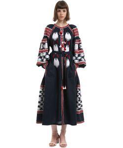 Vita Kin | Льняное Платье С Вышивкой
