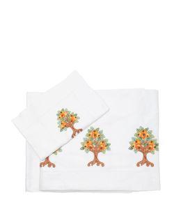 LORETTA CAPONI   Набор Простыней С Вышивкой Апельсиновое Дерево