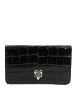 Alexander McQueen | Croc Embossed Patent Leather Clutch
