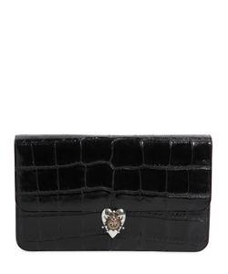 Alexander McQueen | Croc Embossed Patent Leather Clutch