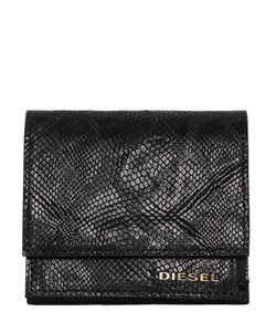 Diesel | Кожаный Кошелёк Со Змеиным Тиснением