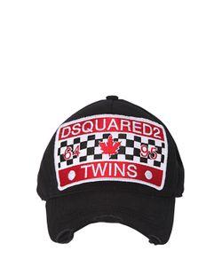 Dsquared2   Бейсбольная Кепка Из Канвас С Нашивками