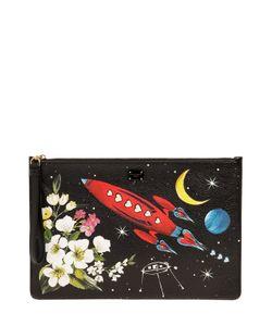 Dolce & Gabbana | Кожаный Клатч С Принтом Космос