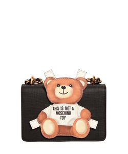 Moschino | Teddy Bear Tab Leather Shoulder Bag