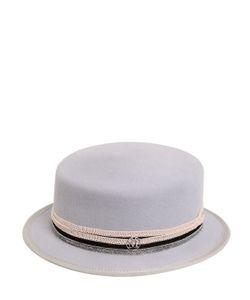 Maison Michel | Шляпа Auguste Из Кроличьего Фетра С Бусинами