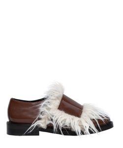 Marni | Кожаные Туфли С Искусственным Мехом 20mm