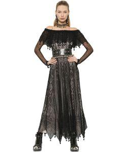Alexander McQueen | Платье Из Шёлкового Кружева