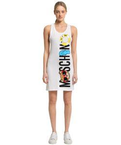 MOSCHINO BEACHWEAR | Платье Из Хлопкового Джерси С Принтом Moschino