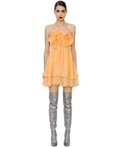 Daniele Carlotta | Ruffled Silk Chiffon Mini Dress