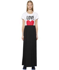Love Moschino | Платье Из Джерси С Принтом Love