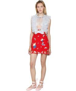 Vivetta | Silk Organza Viscose Cady Mini Dress