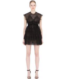 Francesco Scognamiglio | Мини-Платье Из Прозрачного Тюля С Рюшами