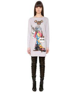 Moschino | Платье Из Хлопкового Джерси С Принтом