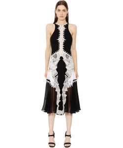 Jonathan Simkhai   Приталенное Платье С Кружевной Аппликацией