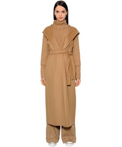 'S Max Mara | Belted Virgin Wool Long With Hood