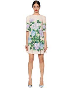 Dolce & Gabbana   Платье Из Кади С Принтом Гортензия