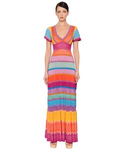 Temperley London | Striped Stretch Knit Lurex Dress