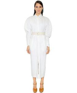 Jil Sander | Платье Из Плиссированного Полухлопкового Материала