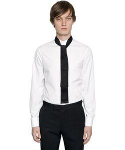 Alexander McQueen | Рубашка Из Хлопкового Поплин С Бантом