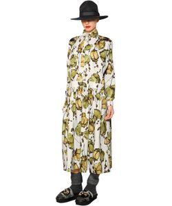 Antonio Marras | Платье Из Поплин С Цветочным Принтом И Вышивкой