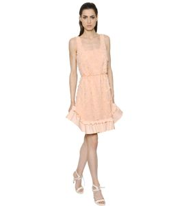 MAX MARA SHINE! | Embroide Ruffled Chiffon Dress