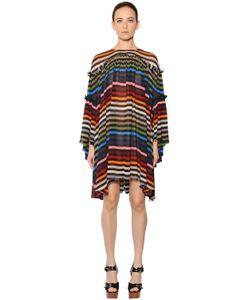 Sonia Rykiel | Платье Из Шёлкового Шифона В Полоску