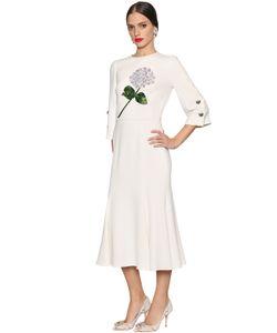 Dolce & Gabbana | Платье Из Кади С Вышивкой Гортензия
