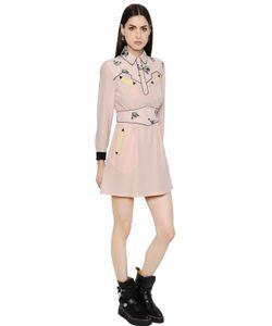COACH | Платье Из Шёлкового Крепа С Принтом