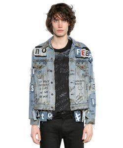 Faith Connexion   Куртка Из Денима С Аппликациями