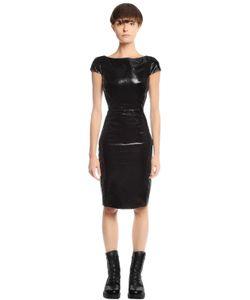 Gareth Pugh | Платье Из Лакированной Кожи И Джерси