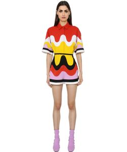 Emilio Pucci | Patchwork Waves Milano Jersey Romper