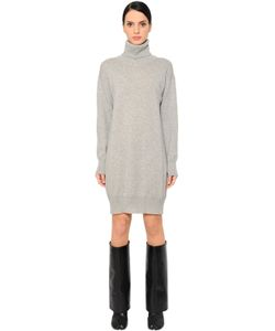 Maison Margiela | Платье Из Шерстяного Трикотажа И Замши