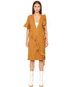 Maison Margiela | Платье Из Полухлопкового Поплин С Оборками