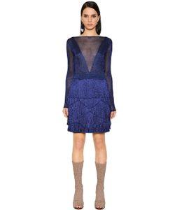Missoni | Мини-Платье Из Ламе С Бахромой