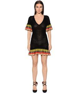 Marco De Vincenzo | Crocheted Cotton Dress With Ruffles