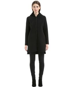 Es'Givien | Hooded Bonded Neoprene Coat