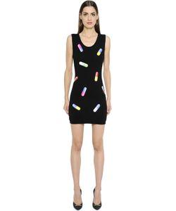 Moschino | Платье Из Шерстяного Трикотажа С Принтом