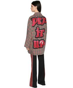 Marco De Vincenzo | Пальто Из Фай В Клетку С Аппликацией Pep It Up