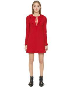 Red Valentino   Платье Из Стретч Кади