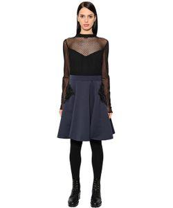 MAX MARA SHINE! | Платье Из Тюля И Хлопка Оттоман