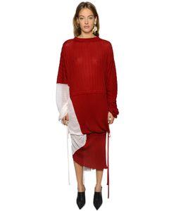 Marni | Платье Из Шёлкового И Хлопкового Трикотажа