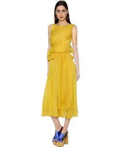 Rochas | Платье Из Шифона С Оборками
