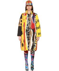 Moschino | Атласная Куртка С Принтом